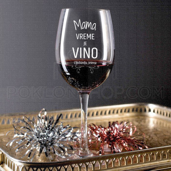 Vreme je vino poklon čaša za vino