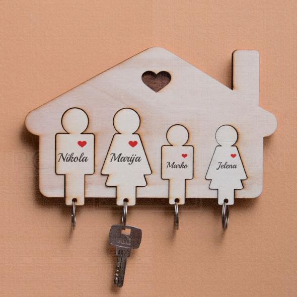Kućica za četvoro porodica mama tata sin i ćerka