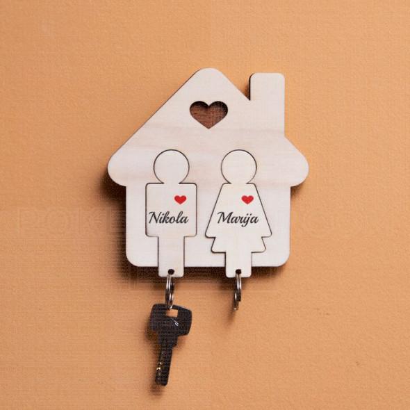Kućica za dvoje poklon set za ključeve