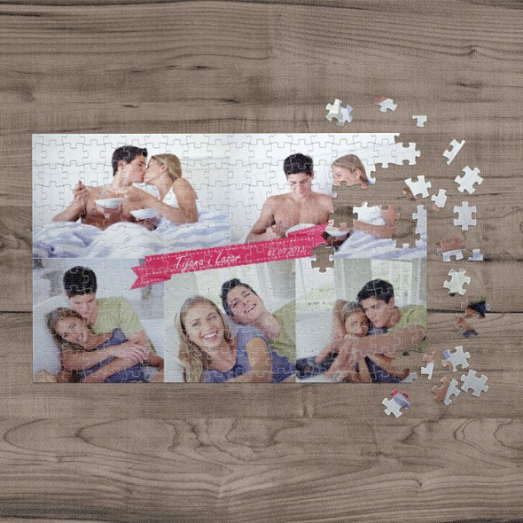 Poklon puzzle kolaž od 5 fotografija