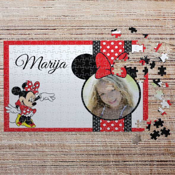 Poklon puzzle Minnie Mouse
