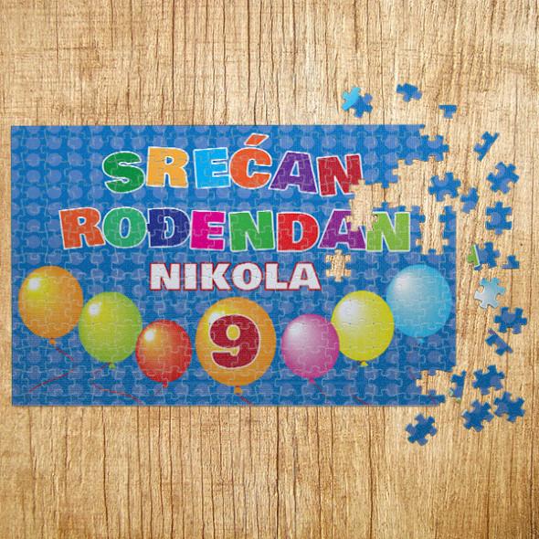 Poklon puzle srećan rođendan