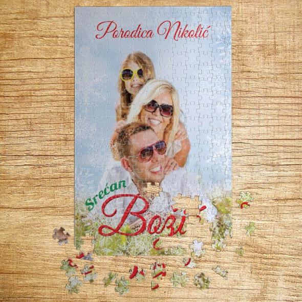Poklon puzzle Porodično čestitanje