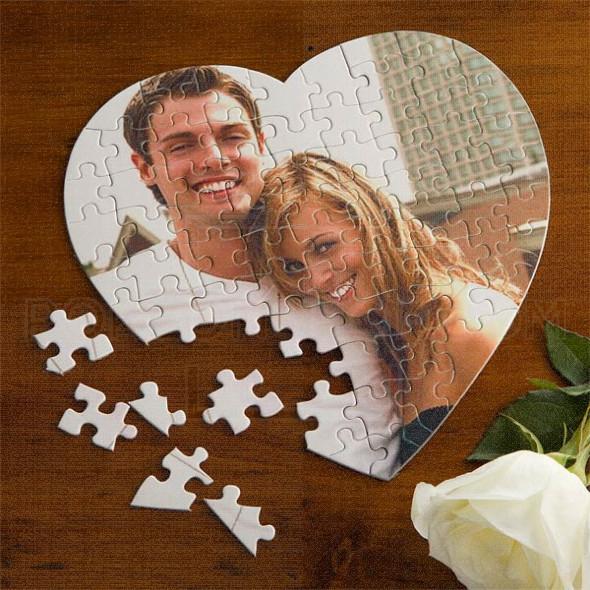 Puzzle sa slikom u srcu