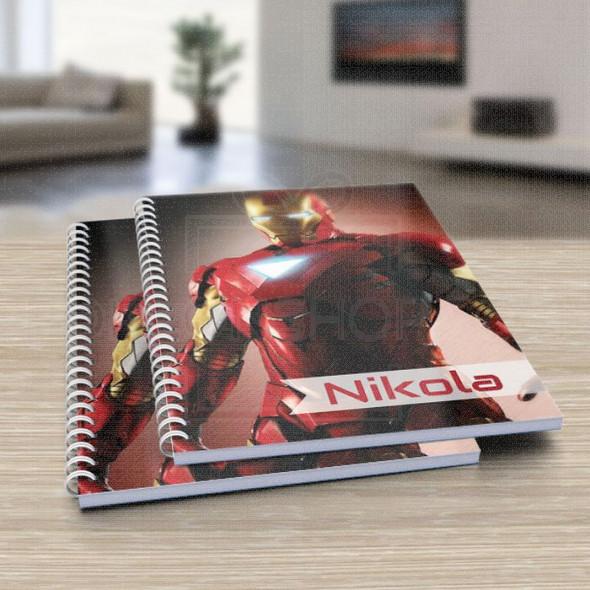 Moj heroj Iron Man poklon sveska za školu