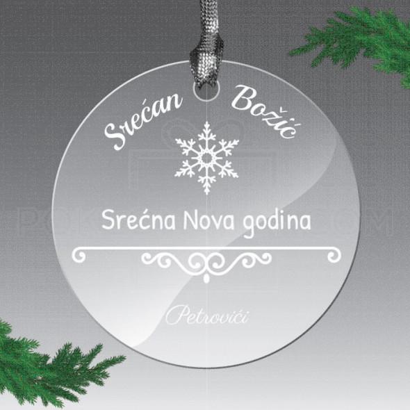 Novogodišnja čarolija poklon ukras