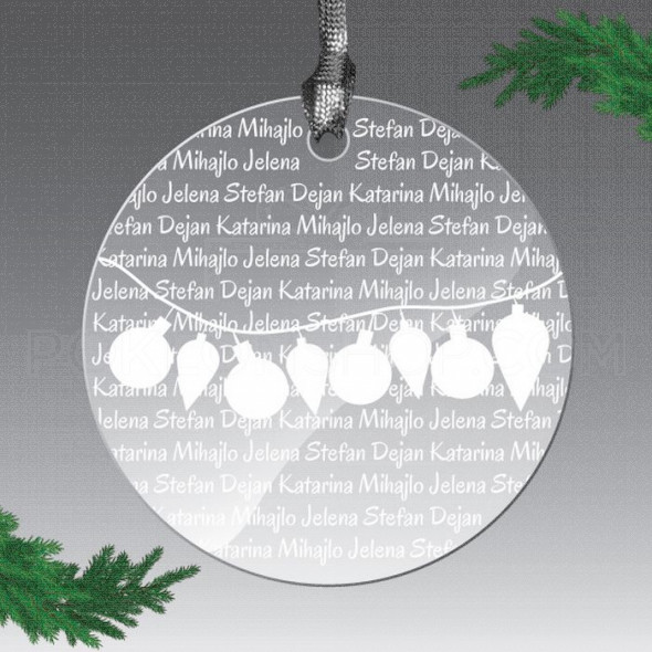 Naša imena poklon ukras