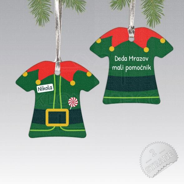 Deda Mrazov pomoćnik poklon ukras