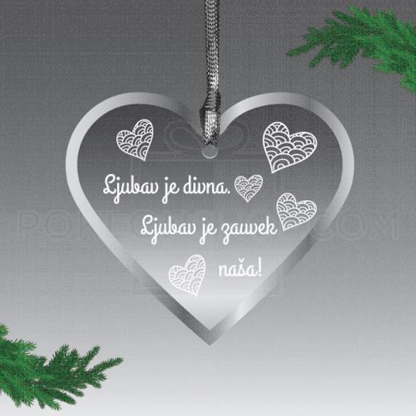 Ljubav je divna poklon ukras