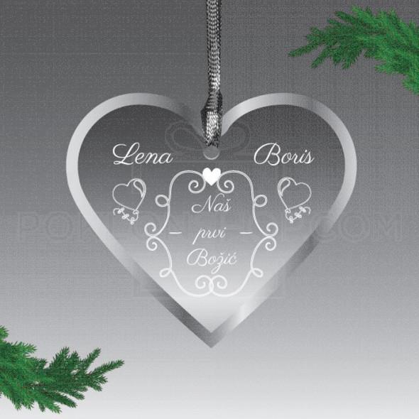 Ljubav u srcu poklon ukras