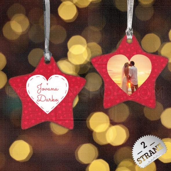 Srce u zvezdi poklon ukras