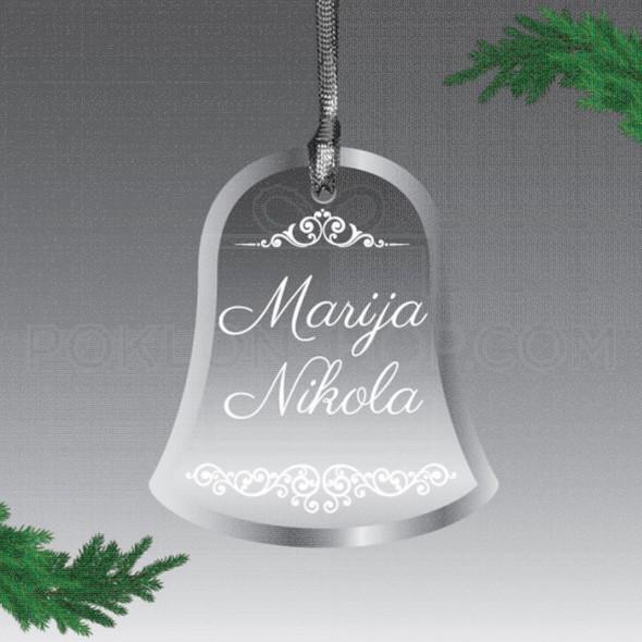 Imena na zvoncetu poklon ukras
