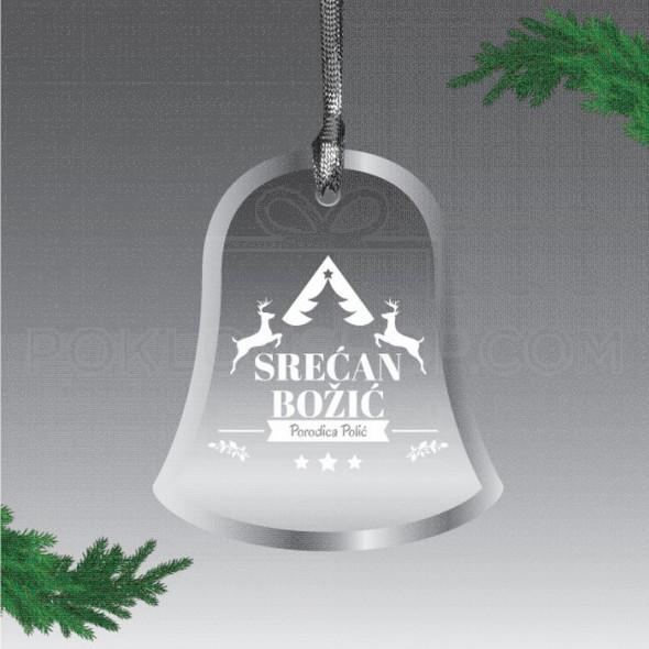 Božićno zvonce poklon ukras