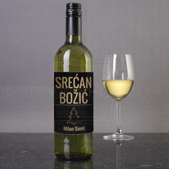 Srećan Božić zeli vam poklon vino