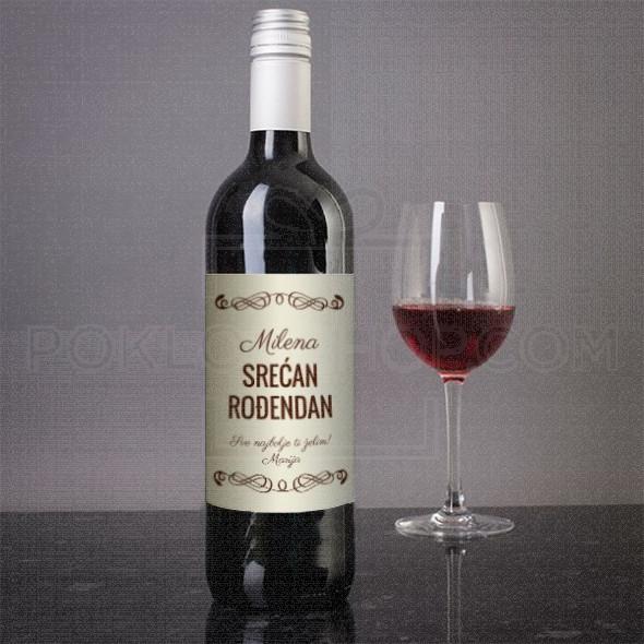 Srećan divan dan poklon vino