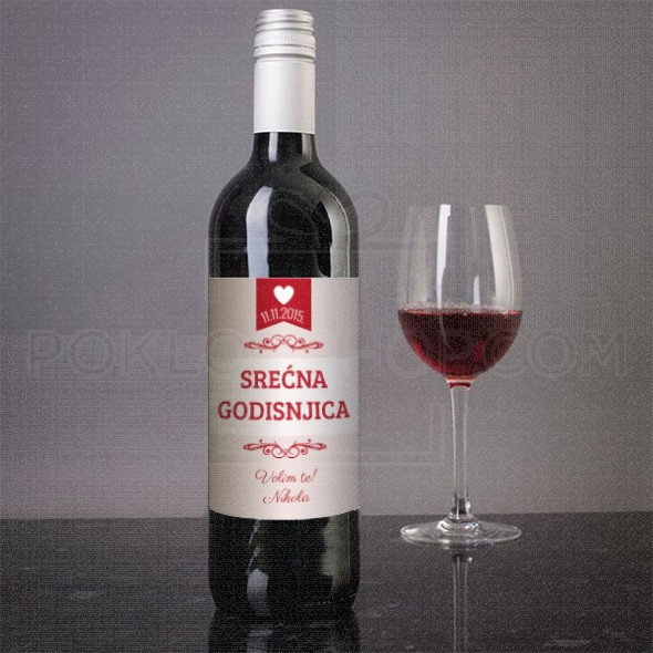 Srećna nam godišinjica poklon vino