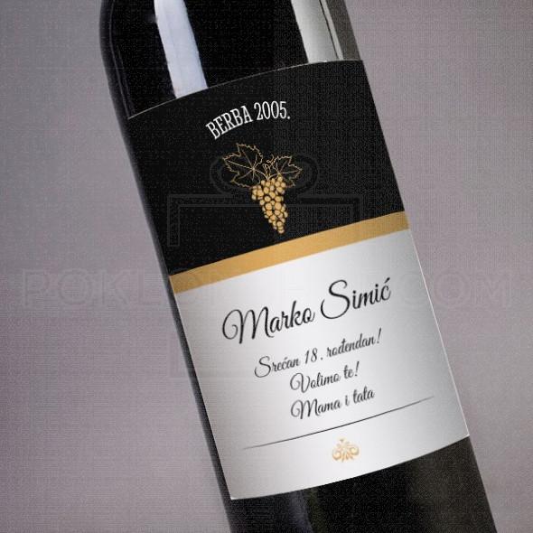 Srecan rodjendan od mame i tate poklon vino