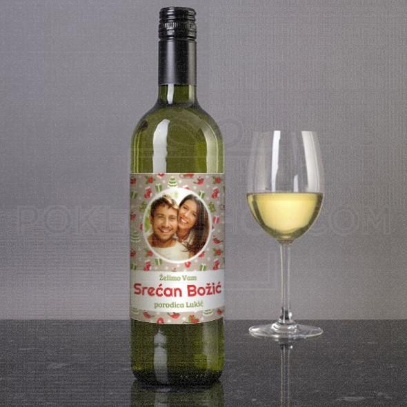 Želimo vam Srećan Bozic porodica poklon vino