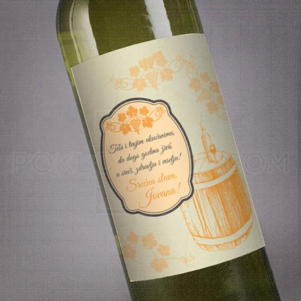 Dizajnirana nalepnica za slavu poklon vino