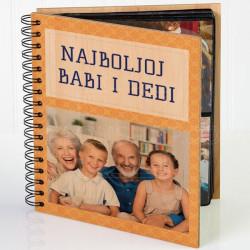 Najboljoj babi i dedi poklon album za slike