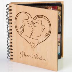 Poljubac poklon album za zaljubljene
