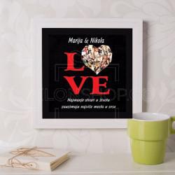 Love kolaž od 26 slika poklon kanvas