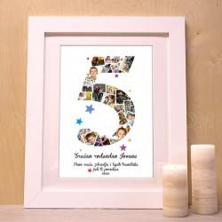 Peti rođendan foto kolaž poklon kanvas