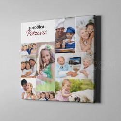 Porodica poklon foto kolaž od 9 fotografija