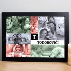 Moja porodica poklon foto kolaž sa 5 fotografija