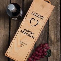 Srećan ti rođendan poklon kutija za vino