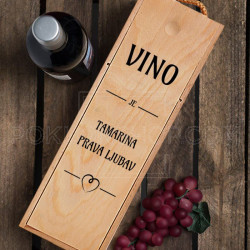 Prava ljubav ime poklon kutija za vino