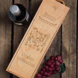 Srećan rođendan žurka poklon kutija za vino