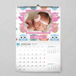 Sovice poklon kalendar za bebe