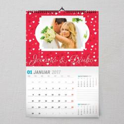 Uspomene sa venčanja poklon kalendar