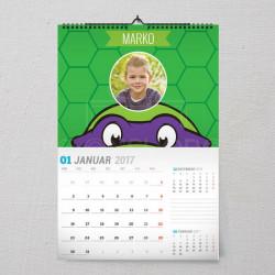 Nindza kornjača poklon kalendar za dečake