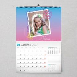 Cvetići poklon kalendar za devojčice