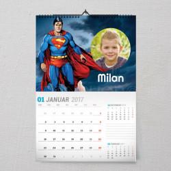 Moj Superman poklon kalendar za dečaka