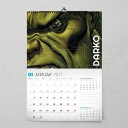 Strašni Hulk poklon kalendar