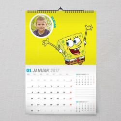 Sunđer Bob poklon kalendar za dete