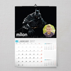 Superheroj Batman poklon kalendar za dečaka