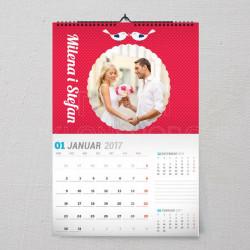 Ptičice poklon kalendar za zaljubljene
