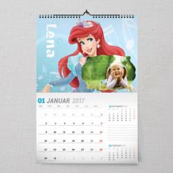 Princeza Ariel poklon kalendar za devojčice
