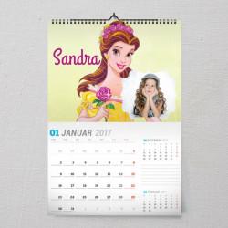 Lepotica poklon kalendar za devojčice
