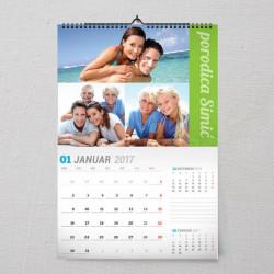 Porodični kolaž poklon kalendar