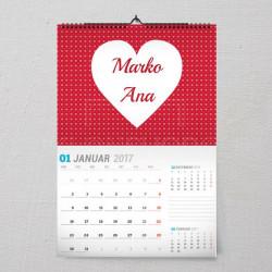 Belo srce poklon kalendar