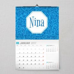 Plavi poklon kalendar