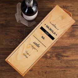 Najboljem bratu na svetu poklon kutija za vino