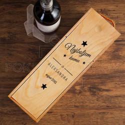 Najboljem kumu poklon kutija za vino