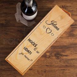Udaj se za mene poklon kutija za vino