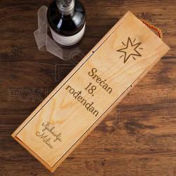 Srećan 18. rođendan poklon kutija za vino